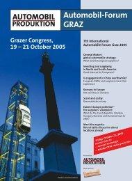 Automobil- Forum Graz 2005 - ACS - Automotive Cluster of Slovenia