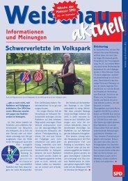 Schwerverletzte im Volkspark - Weisenau