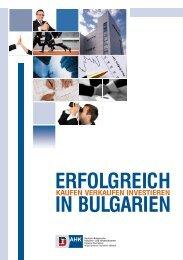 ERFOLGREICH IN BULGARIEN - AHK Bulgarien - Ahks