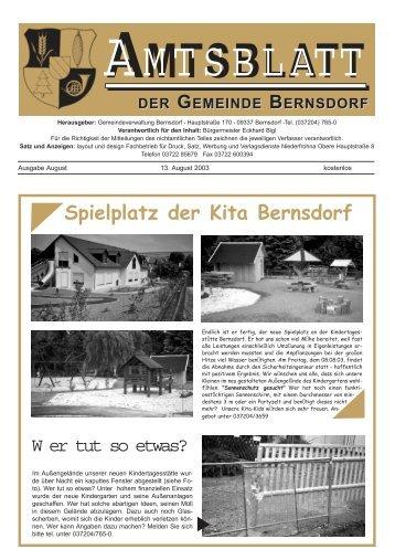 amtliche mitteilungen / informationen - Bernsdorf im Erzgebirge