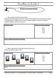 Evaluation : Des problèmes avec les 4 opérations - Enseignons.be