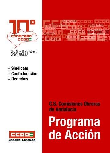 Programa de acción - Comisiones Obreras de Andalucía - CCOO