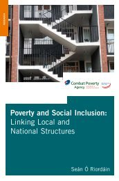 Poverty and Social Inclusion - Combat Poverty Agency
