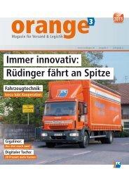 Immer innovativ: Rüdinger fährt an Spitze - Rüdinger Spedition GmbH