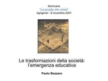 l'emergenza educativa (P.Bozzaro) - Consorzio Sol.Co.