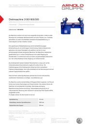 Drehmaschine 3100/1800/300 - Arnold Gruppe