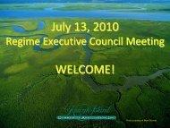 July 13, 2010 WELCOME! - Kiawah Island Community Association