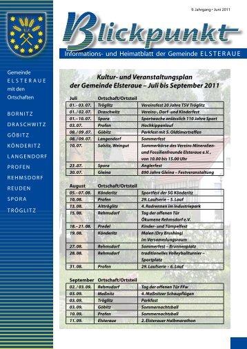 Kultur- und Veranstaltungsplan der Gemeinde Elsteraue – Juli bis ...