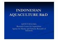 INDONESIAN AQUACULTURE R&D - Library