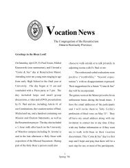 Vocation News - Congregation of the Resurrection, Priests, Brothers ...
