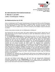 IFFI-Pressetext 19.5.2011 - Internationales Film Festival Innsbruck
