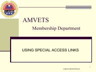 AMVETS Membership Department