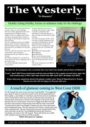 march 2007 - West Coast District Health Board