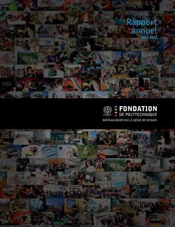 Rapport annuel - Fondation de Polytechnique