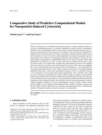 Comparative Study of Predictive Computational Models for ...