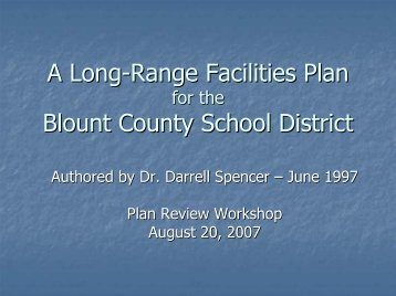 School Plans review - Blount County Government