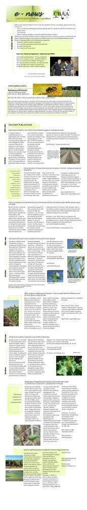 CBAA Newsletter - Instituto Superior de Agronomia