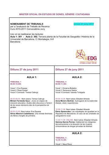 NOMENAMENT DE TRIBUNALS - Institut Interuniversitari d'Estudis ...