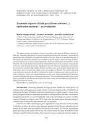 Economic aspects of field pea (Pisum sativum L.) - Sodininkystė ir ...