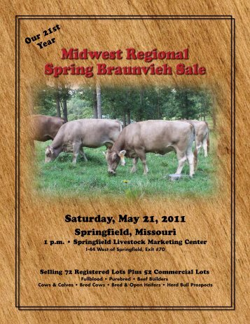 Midwest Catalog Spring 11 - Missouri Braunvieh Association