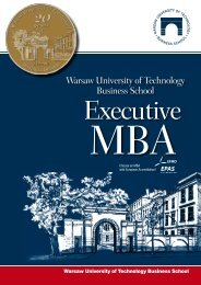 Brochure download - Warsaw University of Technology Business ...