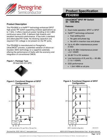 PE42850 DataSheet - Peregrine Semiconductor