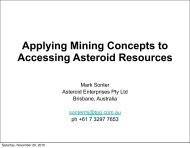 Mining Concepts for Accessing Asteroid Resources - Space Studies ...