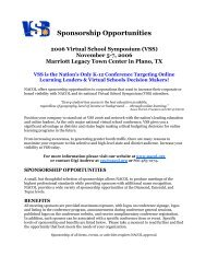 Details of Sponsorship Benefits and Opportunities - Virtual School ...