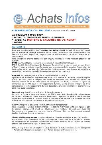 e-Achats Infos n°8 Mai 2007