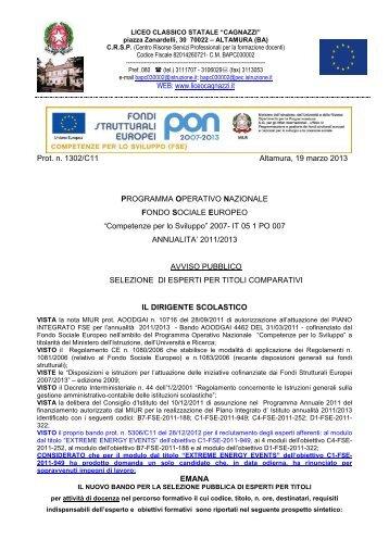 Download Bando - Liceo Statale Cagnazzi