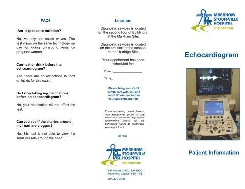 Echocardiogram - Markham Stouffville Hospital
