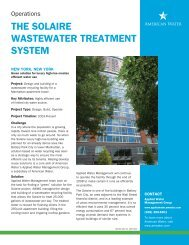 the solaire wastewater treatment system - American Water