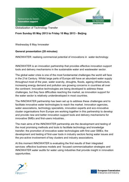 Globalization of Technology Transfer From Sunday 05 May 2013 to ...