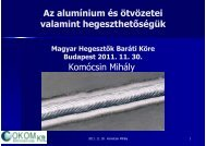 Alumínium és alumíniumötvözetek hegeszthetősége - Messer