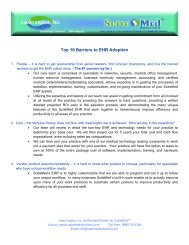 Top 10 Barriers to EHR Adoption - Synergy Healthcare Solutions