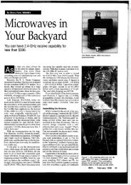 Microwaves in Your Backyard