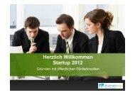 Herzlich Willkommen Startup 2012 - Chance
