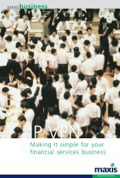 Making it simple for your financial services business - Maxis
