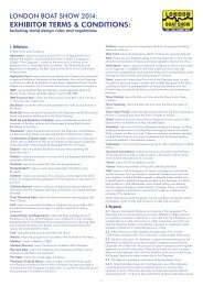 LBS 2014 Terms & Conditions - London Boat Show