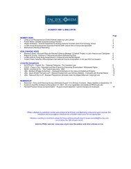 AUGUST 2001 e-BULLETIN - Pacific Rim Advisory Council (PRAC)