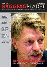 Byggfagbladet 1 2008 - Tømrer og Byggfagforeningen