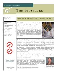 The Biosecure - May 2006 - Vétoquinol Canada