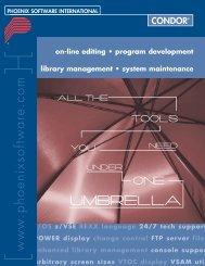 CONDOR Brochure - Phoenix Software International