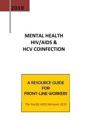 mental health, hiv/aids and hcv coinfection - Pacific AIDS Network