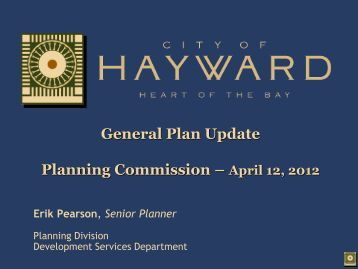 What is a General Plan? - City of HAYWARD