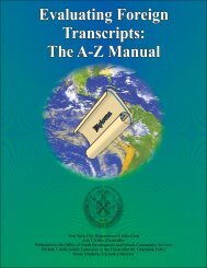 Evaluating Foreign Transcripts: The A-Z Manual ... - OCM Boces