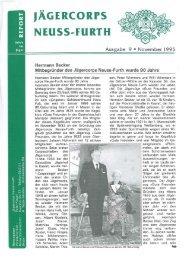 1995 Herbst Ausgabe - Jägercorps Neuss - Furth 1932