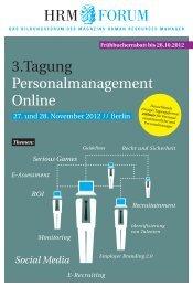Themen: Social Media - HRM-Forum