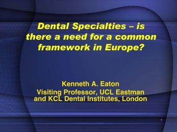 Dental Specialties - European Association of Dental Public Health eV