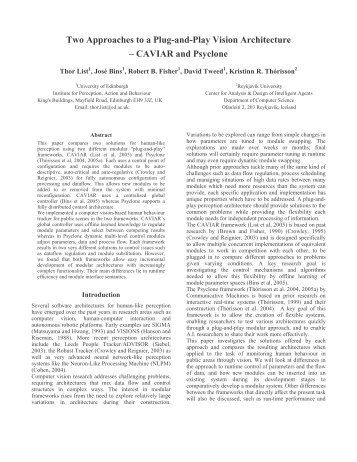 CAVIAR and Psyclone - MIT Media Laboratory
